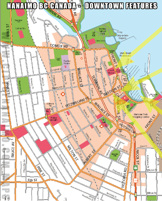 City of Nanaimo, Downtown Area Map